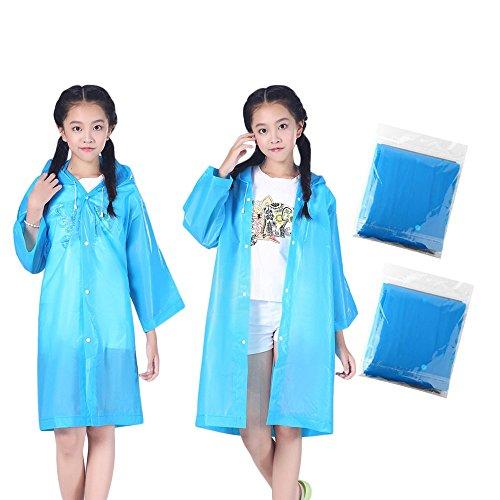 CHshe Kinder 2 Stücke Mit Kapuze Jacke Regenanzug Regen Poncho Regenmantel Abdeckung Lange Regenbekleidung 2 Stück Kinder Regenmantel
