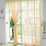Hukz 1 Stück reine Farbe Tulle Tür Fenster Vorhang Drape Panel Sheer Schal Volants (F)