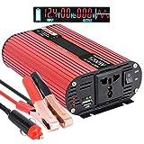 Die besten Backup-Batterie-Ladegeräte - imoli 1200W/2400W Wechselrichter für Auto, DC 12V bis Bewertungen