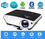 Myra® M803 Android, Wi-Fi, Bluetooth LED Projector 2000 Lumens, 800*480 HDMI USB VGA