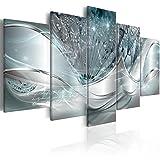 murando Impression sur Toile intissee Abstrait Fleurs 200x100 cm 5 Pieces Image sur Toile Images Tableau Motif Moderne Decoration tendu sur Chassis Pissenlit a-C-0087-b-o