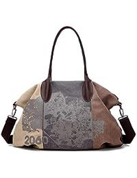 85c4786e1d7b4 G-AVERIL Damen Elegante Canvas Handtasche Groß Shopper Schultertasche  Henkeltasche Hobo Tasche…