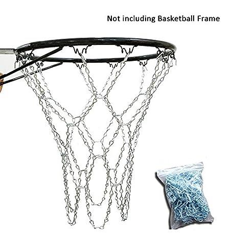 Yunt Metal Basketball Net Steel Chain Basketball Net Metal Replacement Basketball Net con 12 aprieta los Ganchos