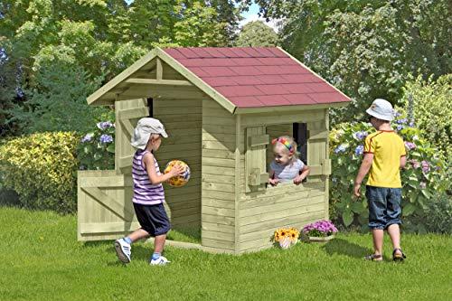 Gartenpirat Spielhaus Emily aus Holz Gartenhaus für Kinder