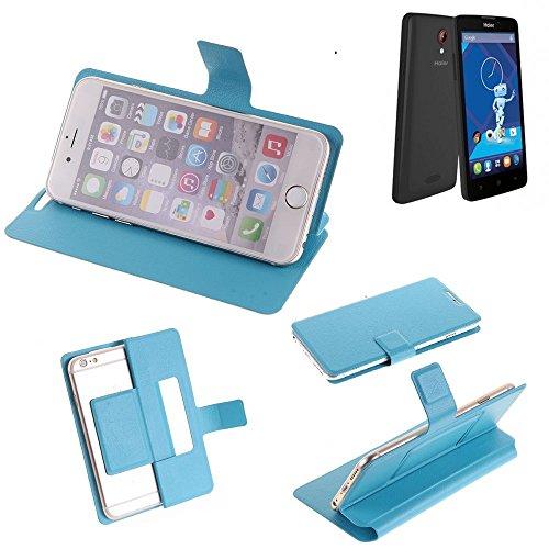 K-S-Trade Flipcover für Haier Phone L52 Schutz Hülle Schutzhülle Flip Cover Handy case Smartphone Handyhülle blau