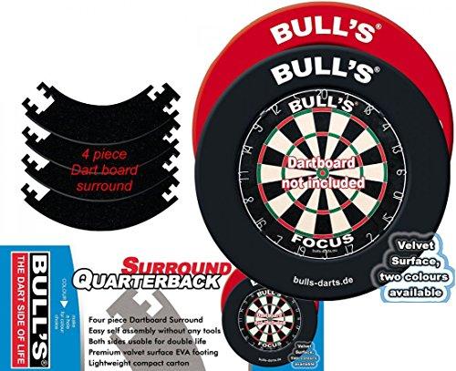 Bull's Erwachsene Quarterback Eva Dart Board Surround, Schwarz, 1