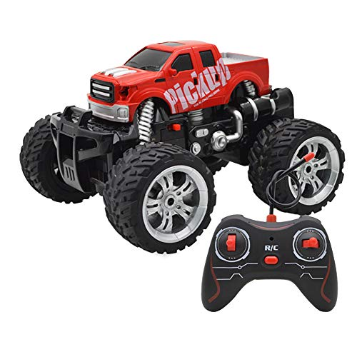 Bascar360 ° drehen RC Off-Road Auto,2.4 GHz Funkfernsteuerung,Alles Gelände Ferngesteuerter Auto Spielzeug, für Kinder (Rot 2)