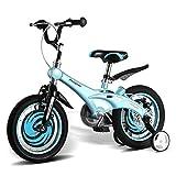 Kinderfahrräder stilvolle Jungen und Mädchen Kinder Fahrräder 3/6/8-jährige Kinder Radfahren individuelle Kinder dreirädrige Fahrräder Magnesiumlegierung Kinder im Freien Fahrräder ( Color : Blue , Size : 16 inch )