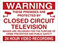 WARNING 24HR VIDEO RECORDING SIGN RIGID PLASTIC PRINTED. 200MMx150MM : everything £5 (or less!)