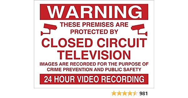 Warning 24hr Video Recording Sign Rigid Plastic Printed 150x200mm By Fsss Ltd Küche Haushalt