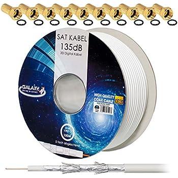 8k Lokmann 135db sat Câble d/'antenne coaxial numérique Câble Coaxial 5 fois ultra HD 3d