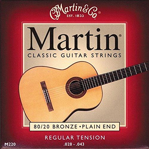 Shorty Set von Saiten Martin M220Bronze Gitarre Klassische 2843 (Klassische Martin, Gitarre)