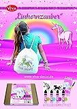 Viva Decor Creative Schablonen-Set Magic Einhorn, synthetisches Material, mehrfarbig, 26x 21x 3cm