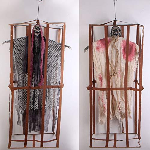 AYUE® Halloween Zimmer Entkommen Erleuchten Stimmenkontrolle Großer Hängender Geist Zaun Häftling Hängender Geist Dekorative ()