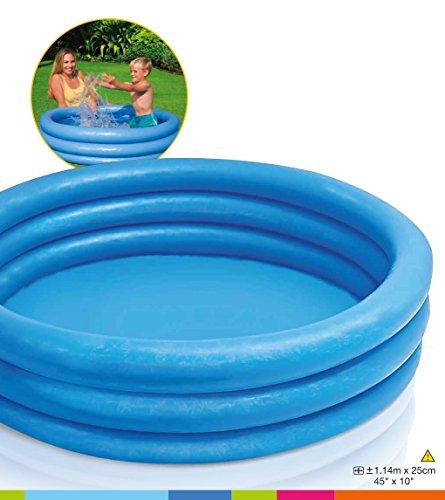 Intex Kinderpool 3-Ring-Pool Crystal 59416NP, Blau, Ø 114 x 25 cm - 5