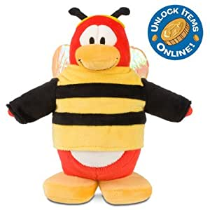"Disney 9"" Deluxe Club Penguin Penguin Plush -- Bumble Bee (201001)"