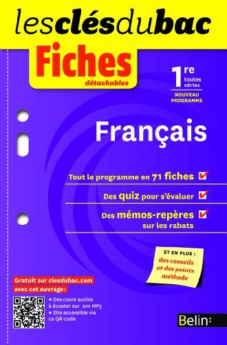 Français 1e toutes séries : Fiches détachables par Stéphane Cozette