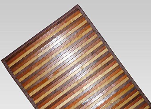 Tapis en bambou dégradé antidérapant 50x75 cm marron