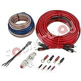 Set Verkabelung Motors komplett Kit Cables Verstärker Subwoofer Auto Anschluss Car Hifi 2Ausgangskanäle Sicherung Cable RCA und Lautsprecher