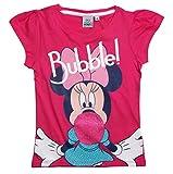 Minnie Mouse T-Shirt Kollektion 2017 Shirt 92 98 104 110 116 122 128 Mädchen Kurzarmshirt Maus Fuchsia (110-116, Fuchsia)