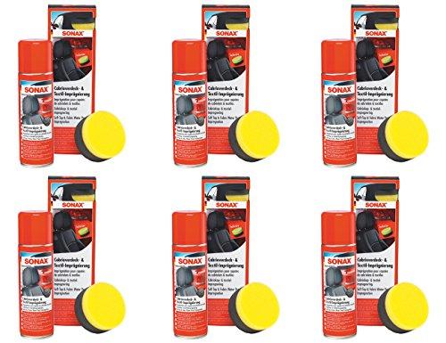 Preisvergleich Produktbild 6x 300ml SONAX CABRIOVERDECK- & TEXTILIMPRÄGNIERUNG VERSIEGELUNG IMPRÄGNIERUNG