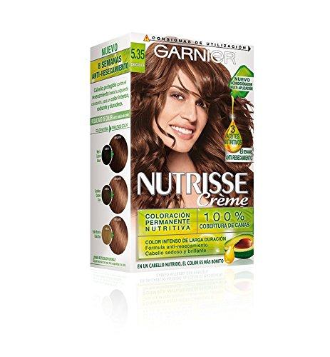 Garnier Nutrisse Creme Coloración permanente con mascarilla nutritiva de cuatro aceites - Tono: Chocolate 5.35