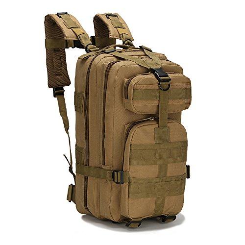 Military Tactical Pack Sports Rucksack Tasche atmungsaktives Netzrückenteil Unisex Frauen Herren Nylon 30L MOLLE Armee Rucksäcke Camping Wandern Trekking military-mad Tasche Kinder Childen Schulranzen Khaki