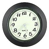 CARGOOL Auto Armaturenbrett Uhr Mini Fahrzeug Uhr Leuchtende Air Vent Uhren mit Clip und LR626 Batterie, Einfach zu installieren, Perfekte Dekoration für Autos, SUV und MPV, schwarz