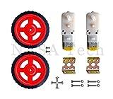 #8: Straight BO motor 150 RPM (2 Pcs), BO Wheel (2 Pcs) , Clamps, screw set