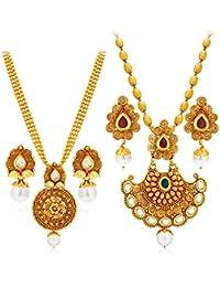 Sukkhi Wedding & Engagement Jewellery Set for Women (Golden) (388CB1400_D3)
