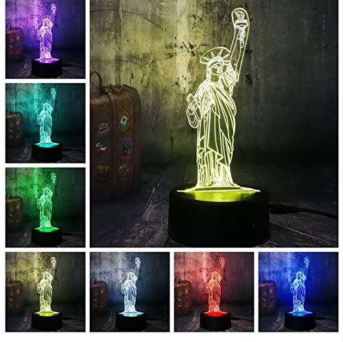 Amerikanischen Symbol Freiheitsstatue 3D Led Nachtlicht Usb Schreibtischlampe Wohnkultur Xmas Festival Geschenk Geburtstagsgeschenk (Symbole Der Dämmerung)