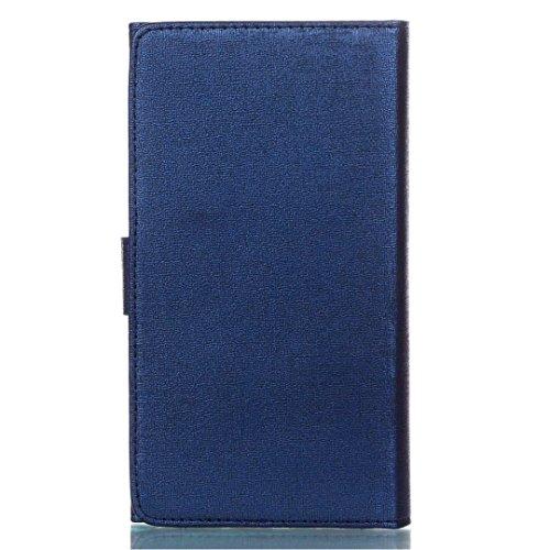 Cross Lines Texture Dreifach Typ PU Leder Brieftasche Case mit freistehenden TPU Back Cover Card Slots für Samsung Galaxy S8 Plus ( Color : Gold ) Blue