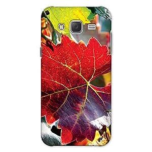 DASM United Samsung J7 2015 Premium Back Case Cover - Autum Leaf Vines