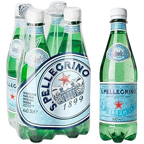 San Pellegrino agua mineral con gas 4 x 500 ml