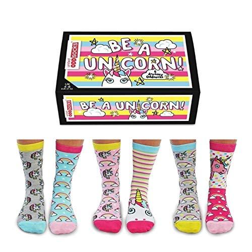 Sei ein Einhorn Oddsocks Socken in 37-42 im 6er Set - Strumpf
