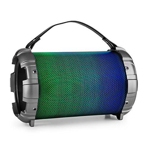 Auna Dr. Bang LED Altavoz Boombox portátil 2.1 con Bluetooth (40W RMS,...