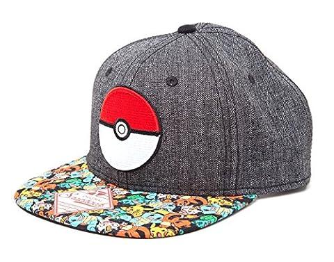 Casquette 'Pokémon' : Pokeball - snap back - gris