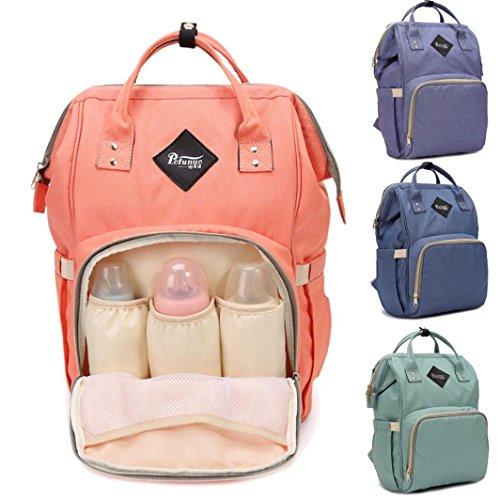 Rucksäcke,Chshe Mama Tasche Windel Tasche Mit Großer Kapazität Baby - Tasche Reisen Rucksack Desiger Krankenpflege Tasche (Orange) Minzgrün