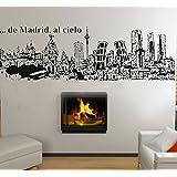 Vinilo Decorativo De Madrid al cielo. (186x60cm. aprox) color negro.