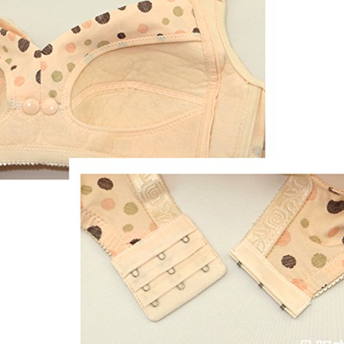 Zhhlaixing Pregnant Women Maternità Nursing Bra Front Open Bra Breast Feeding Underwear Hot Nude