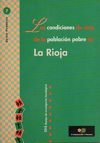 Descargar Libro Condiciones de vida de la población pobre de La Rioja. (Foessa. Serie Pobreza) de Edis (Equipo de Investigación Sociologica)