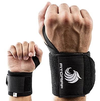 Handgelenk Bandagen [Wrist Wraps] von FITGRIFF - 45 cm Handgelenkbandage für Fitness, Bodybuilding, Kraftsport & Crossfit - für Frauen und Männer - 2 Jahre Gewährleistung von Fitgriff