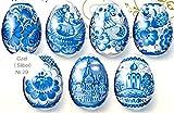 Ukrainisches-Kunsthandwerk, Ostereier Schrumpffolie. Gzel mit Silberrand Neu. Nr.29 reicht für 7 Eier (Bild: Amazon.de)