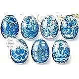 Ukrainisches-Kunsthandwerk, Ostereier Schrumpffolie. Gzel mit Silberrand Neu. Nr.29 reicht für 7 Eier