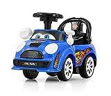 JOY - Rutscher in 4 Farben, Rutschauto, Kinderauto, Rutschfahrzeug, Rutschwagen, Lauflernwagen, Lernlaufauto, Lauflernauto mit interaktivem Lenkrad und aufklappbarer Sitz, Farbe:blau