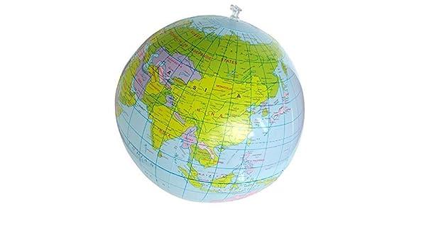 2 x coromose 40cm inflatable world globe teaching geography toy 2 x coromose 40cm inflatable world globe teaching geography toy map balloon beach ball by coromose amazon kitchen home gumiabroncs Image collections