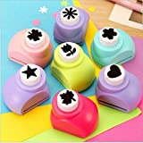 #9: LIGHTER HOUSE Craft Punches Machine For Art And Craft Project Assorted Shapes - 4 Pcs Set Medium Size