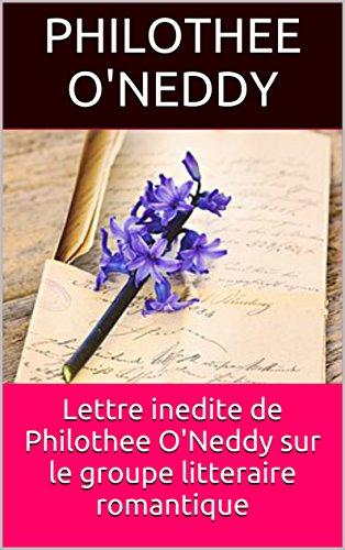 Como Descargar Bittorrent Lettre inedite de Philothee O'Neddy sur le groupe litteraire romantique Epub Sin Registro