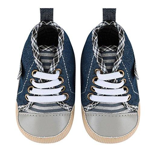 La Cabina Chaussure de Toile - Chaussures Toile Bébé Fille garçon -Chaussure Bébé Fille Garçon Premier Pas -Chaussures Souples Confortable - Chaussures Antiglisse pour Hiver Printemps été (0-18 mois )