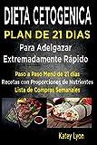 Dieta Cetogénica  Plan De 21 Días Para Adelgazar: Paso A Paso Menú De 21 Días,  Recetas Con Proporciones De Nutrientes Incluidos Y La Lista De Compras Semanales: Volume 2 (Dieta Cetogenica)